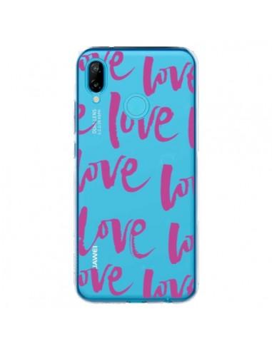 Coque Huawei P20 Lite Love Love Love Amour Transparente - Dricia Do