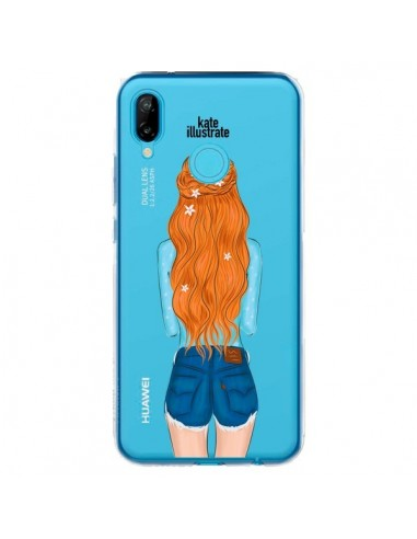 Coque Huawei P20 Lite Red Hair Don't Care Rousse Transparente - kateillustrate