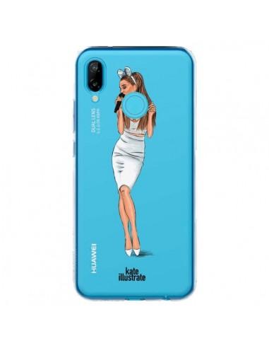 Coque Huawei P20 Lite Ice Queen Ariana Grande Chanteuse Singer Transparente - kateillustrate