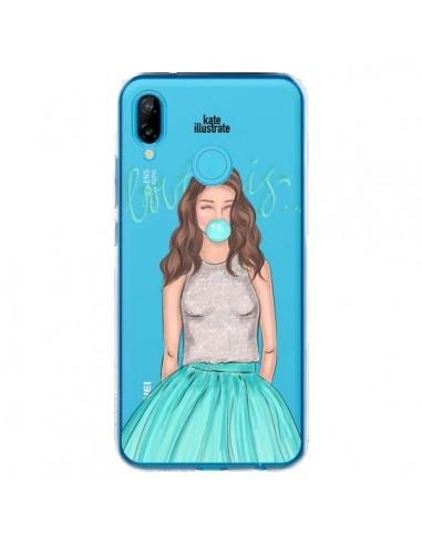 Coque Huawei P20 Lite Bubble Girls Tiffany Bleu Transparente - kateillustrate