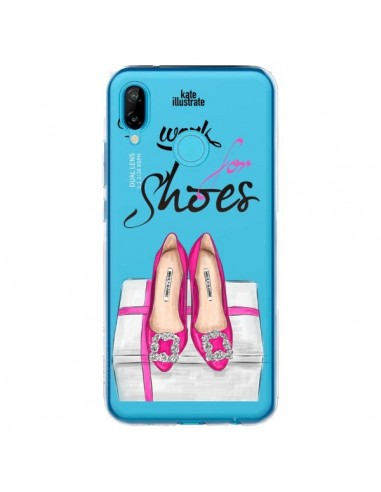 Coque Huawei P20 Lite I Work For Shoes Chaussures Transparente - kateillustrate