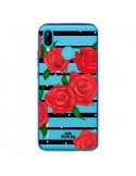Coque Huawei P20 Lite Red Roses Rouge Fleurs Flowers Transparente - kateillustrate