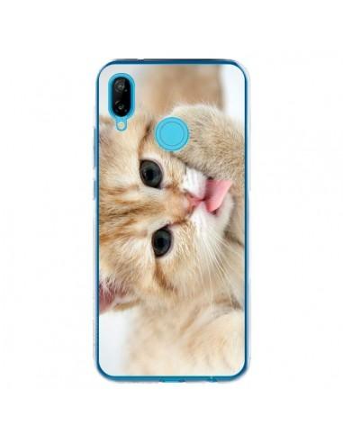 Coque Huawei P20 Lite Chat Cat Tongue - Laetitia