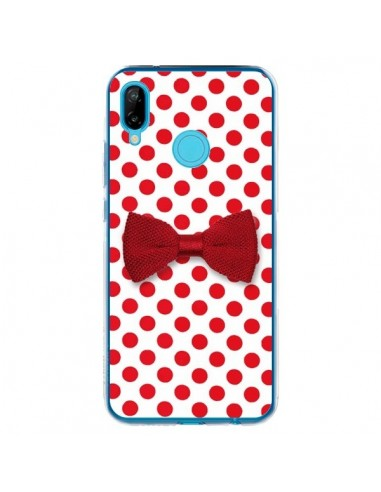 Coque Huawei P20 Lite Noeud Papillon Rouge Girly Bow Tie - Laetitia