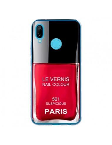Coque Huawei P20 Lite Vernis Paris Suspicious Rouge - Laetitia