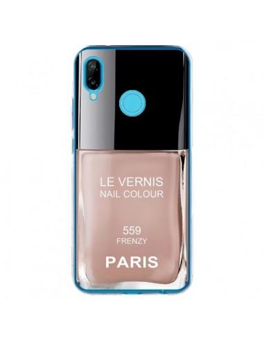 Coque Huawei P20 Lite Vernis Paris Frenzy Beige - Laetitia