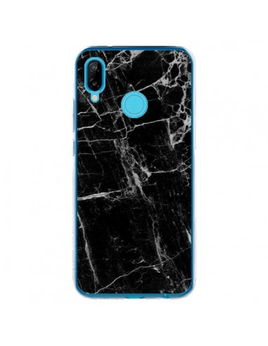 Coque Huawei P20 Lite Marbre Marble Noir Black - Laetitia