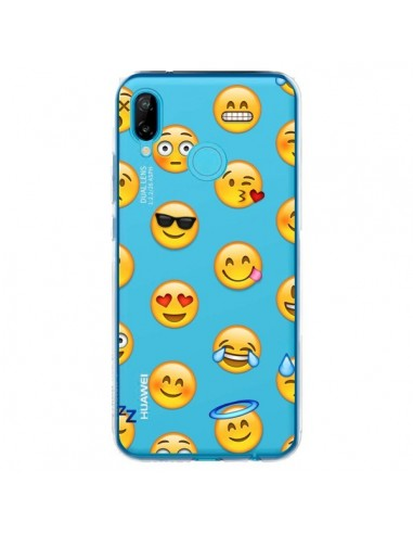 Coque Huawei P20 Lite Smiley Emoticone Emoji Transparente - Laetitia