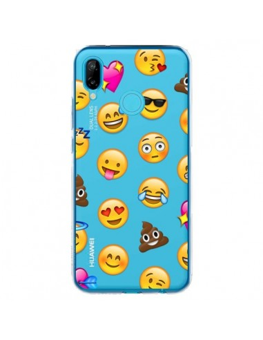 Coque Huawei P20 Lite Emoticone Emoji Transparente - Laetitia