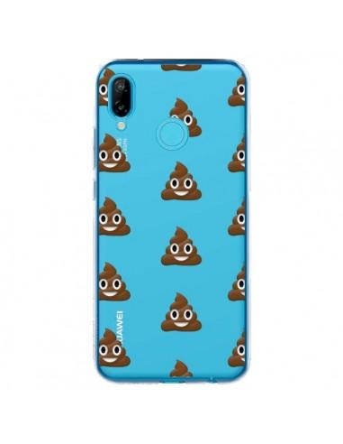 Coque Huawei P20 Lite Shit Poop Emoticone Emoji Transparente - Laetitia