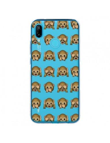 Coque Huawei P20 Lite Singe Monkey Emoticone Emoji Transparente - Laetitia