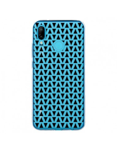 Coque Huawei P20 Lite Triangles Romi Azteque Noir Transparente - Laetitia