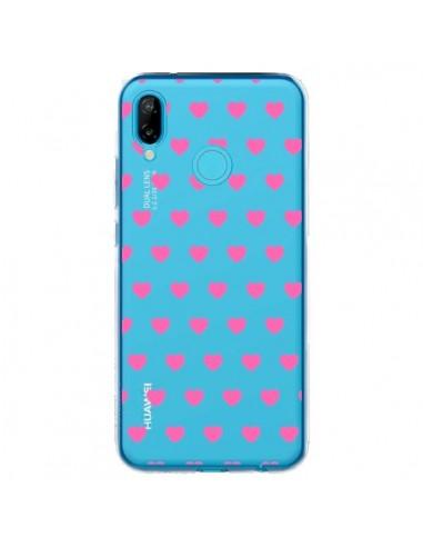 Coque Huawei P20 Lite Coeur Heart Love Amour Rose Transparente - Laetitia