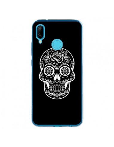 Coque Huawei P20 Lite Tête de Mort Mexicaine Blanche - Laetitia