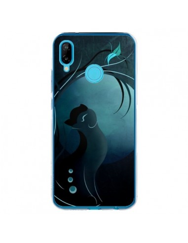 Coque Huawei P20 Lite Chat Clair de Lune Moonlight - LouJah