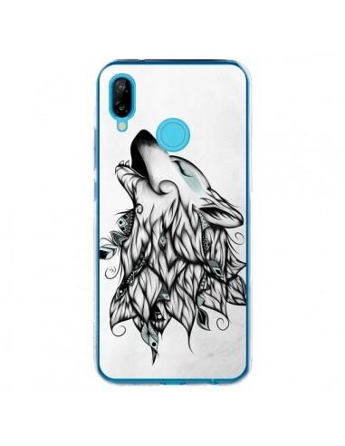 Coque Huawei P20 Lite The Wolf Loup Noir - LouJah