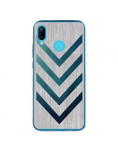 Coque Huawei P20 Lite Blue Arrow Wood Fleche Bois - LouJah