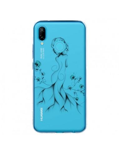 Coque Huawei P20 Lite Princesse Fleurs Transparente - LouJah