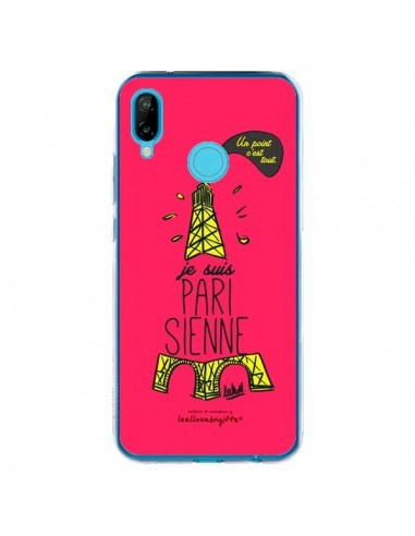 Coque Huawei P20 Lite Je suis Parisienne La Tour Eiffel Rose - Leellouebrigitte