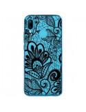 Coque Huawei P20 Lite Lace Fleur Flower Noir Transparente - Petit Griffin
