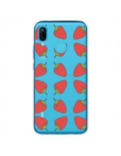Coque Huawei P20 Lite Fraise Fruit Strawberry Transparente - Petit Griffin