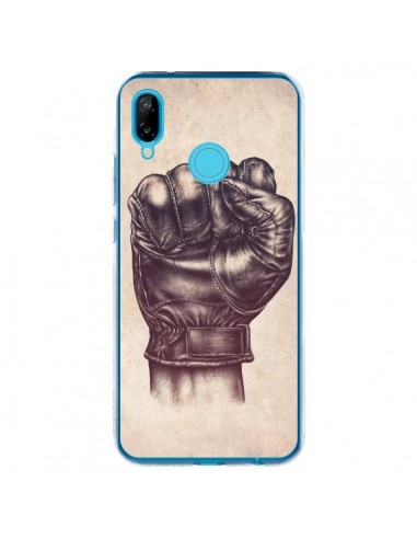 Coque Huawei P20 Lite Fight Poing Cuir - Lassana