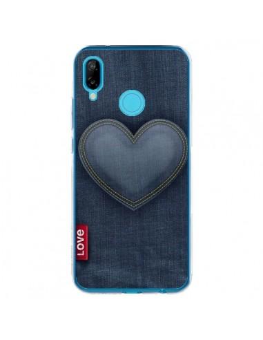 Coque Huawei P20 Lite Love Coeur en Jean - Lassana