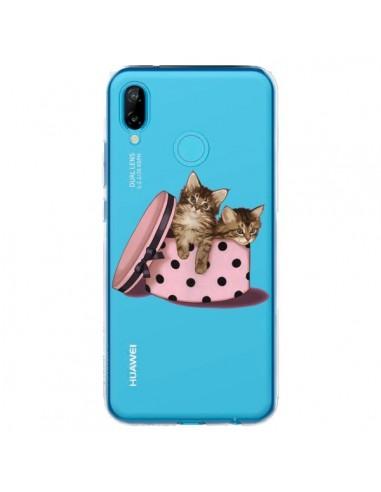 Coque Huawei P20 Lite Chaton Chat Kitten Boite Pois Transparente - Maryline Cazenave