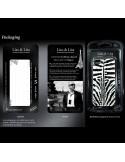 Coque Drapeau Anglais en Miroir Noir Gravure Dorée pour iPhone 4 et 4S - Lito Lita
