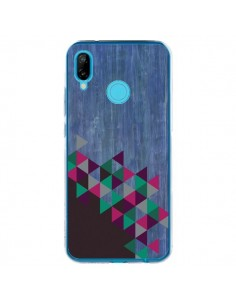 Coque Huawei P20 Lite Wood Bois Azteque Triangles Archiwoo - Pura Vida