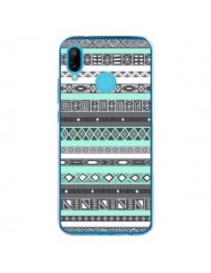 Coque Huawei P20 Lite Azteque Aztec Bleu Pastel - Rex Lambo
