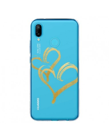 Coque Huawei P20 Lite Deux Coeurs Love Amour Transparente - Sylvia Cook