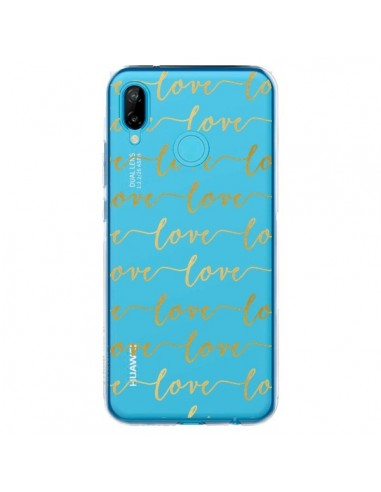 Coque Huawei P20 Lite Love Amour Repeating Transparente - Sylvia Cook