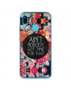 Coque Huawei P20 Lite Fleur Flower Ain't nobody got time for that - Sara Eshak