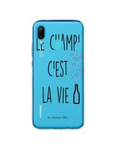 Coque Huawei P20 Lite Le Champ, c'est la Vie Transparente - Les Vilaines Filles