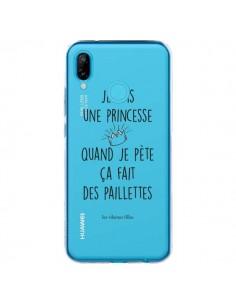 Coque Huawei P20 Lite Je suis une princesse quand je pète ça fait des paillettes Transparente - Les Vilaines Filles