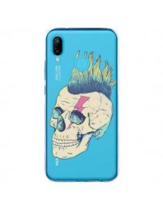 Coque Huawei P20 Lite Tête de Mort Crane Punk Transparente - Victor Vercesi
