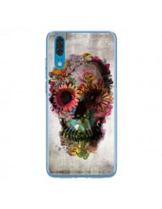 Coque Huawei P20 Skull Flower Tête de Mort - Ali Gulec