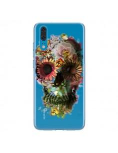 Coque Huawei P20 Skull Flower Tête de Mort Transparente - Ali Gulec