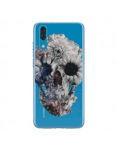 Coque Huawei P20 Floral Skull Tête de Mort Transparente - Ali Gulec