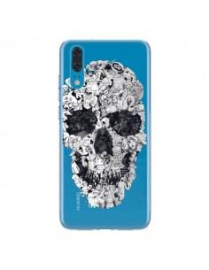 Coque Huawei P20 Doodle Skull Dessin Tête de Mort Transparente - Ali Gulec