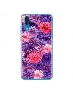 Coque Huawei P20 Fleurs Violettes Flower Storm - Asano Yamazaki