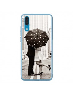 Coque Huawei P20 Secret under Umbrella Amour Couple Love - Asano Yamazaki