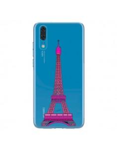 Coque Huawei P20 Tour Eiffel Rose Paris Transparente - Asano Yamazaki