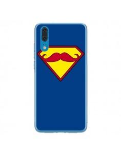 Coque Huawei P20 Super Moustache Movember Superman - Bertrand Carriere