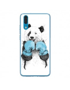 Coque Huawei P20 Winner Panda Boxeur - Balazs Solti