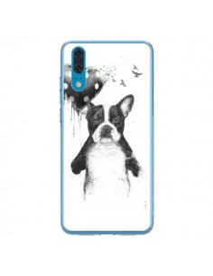 Coque Huawei P20 Lover Bulldog Chien Dog My Heart Goes Boom - Balazs Solti