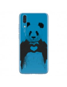 Coque Huawei P20 Panda All You Need Is Love Transparente - Balazs Solti