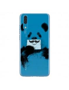 Coque Huawei P20 Funny Panda Moustache Transparente - Balazs Solti
