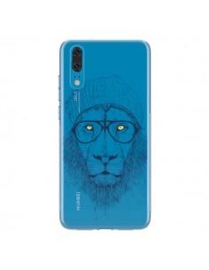 Coque Huawei P20 Cool Lion Swag Lunettes Transparente - Balazs Solti